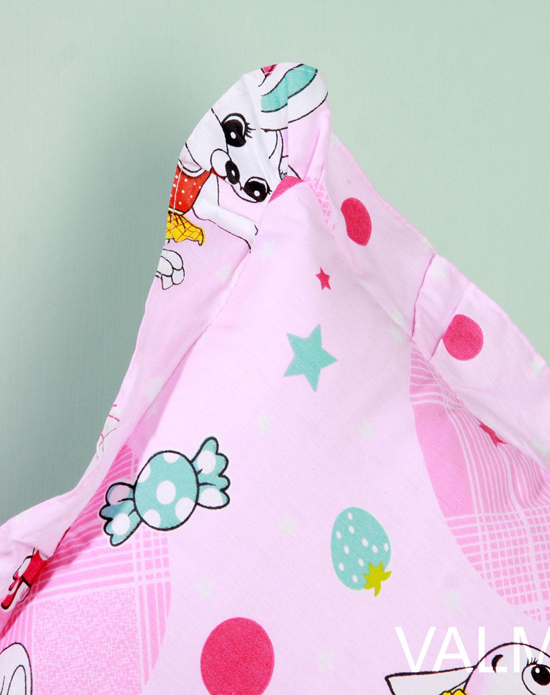 粉色可爱小兔卡通儿童枕50*35cm