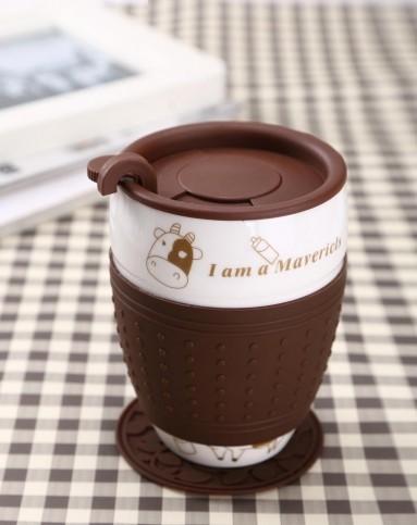 > 卡通咖啡杯(奶牛)
