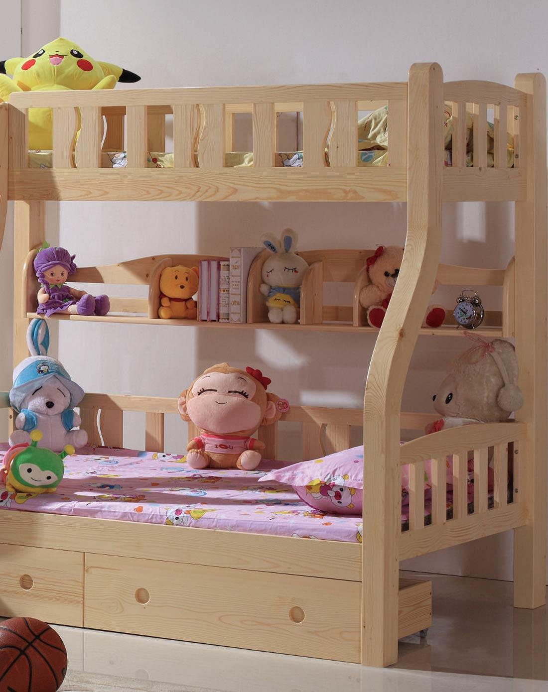家有儿女儿童家具专场进口芬兰松木儿童书架jyen62
