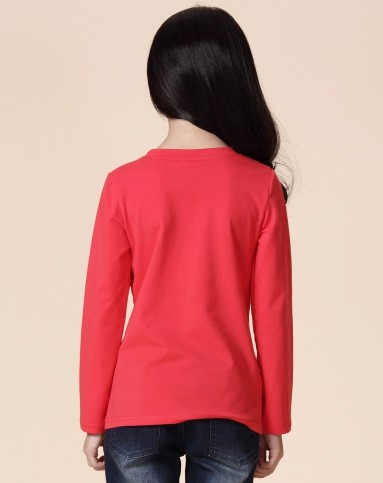 亲子西瓜红-桃夭长袖t恤