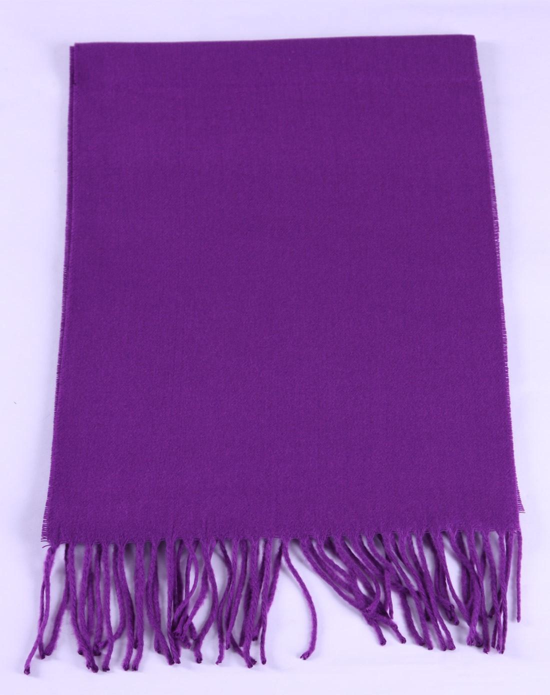 女士紫色素雅纯色超柔围巾
