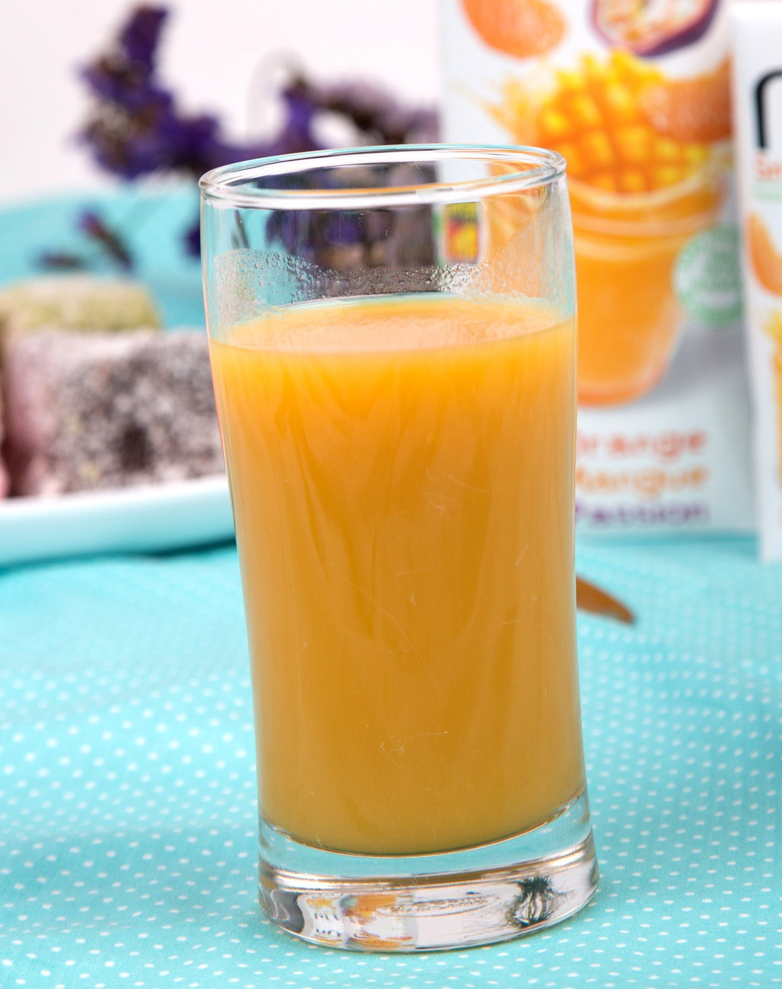 纳悠 水果思慕雪混合果汁(橙子,芒果,热情果味)1l