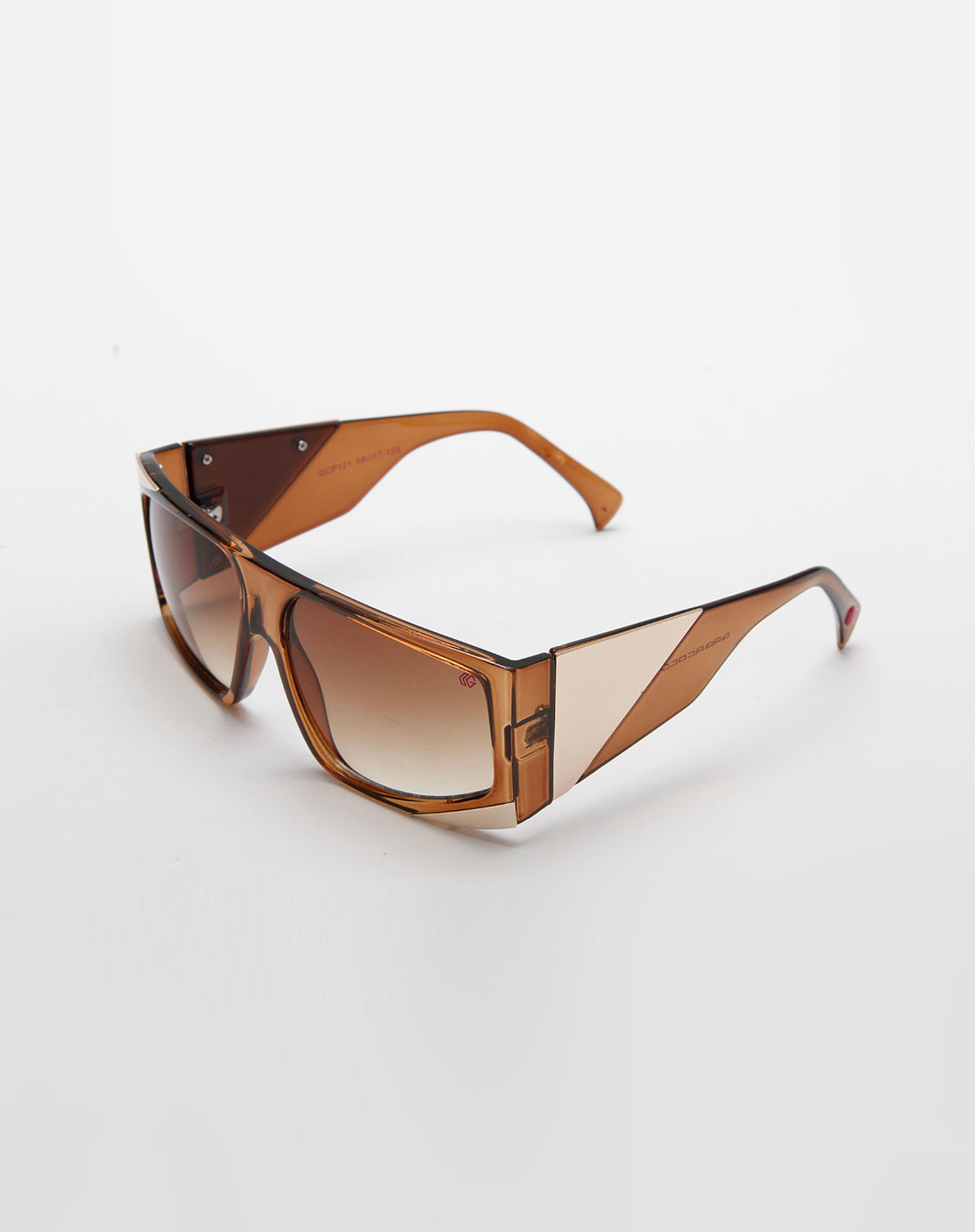 透明棕色边框太阳眼镜