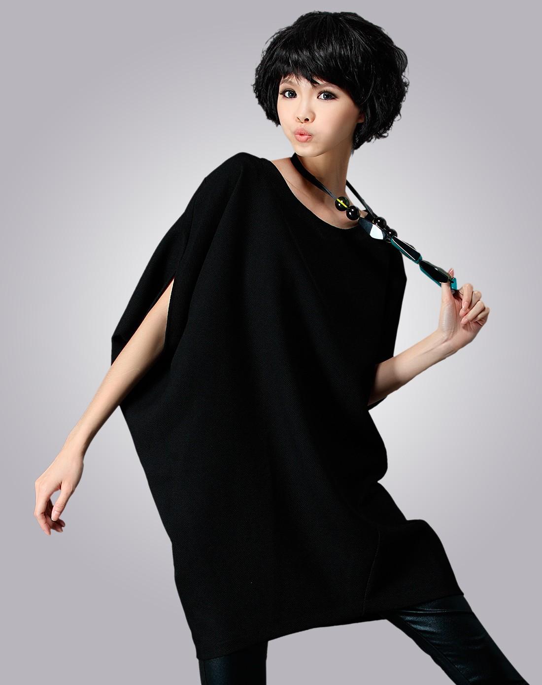 女黑礹/&�yi)��-z)�bi_女黑色连衣裙