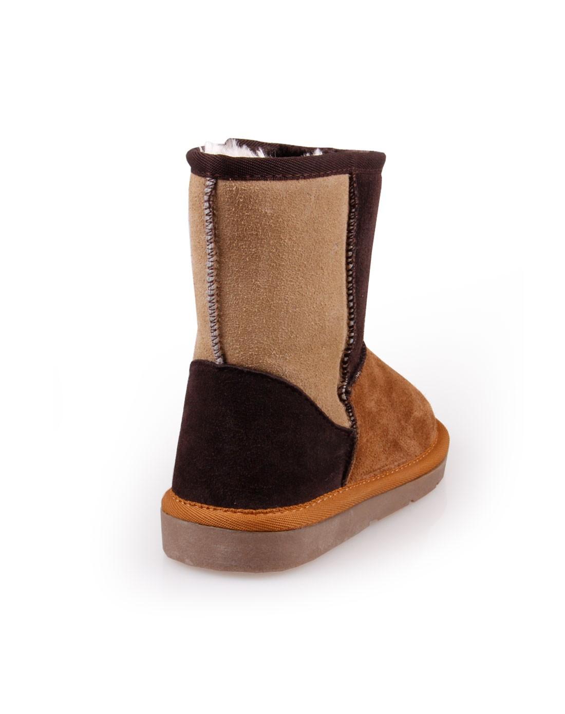 雪地靴哪个牌子最好_女童棕色韩版雪地靴