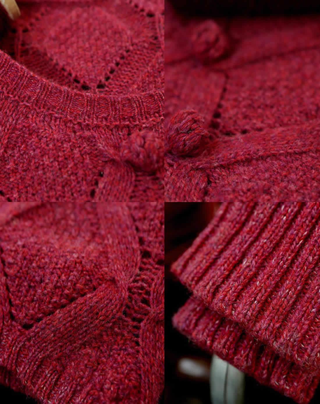 漂亮的镂空叶子花围巾编织图解