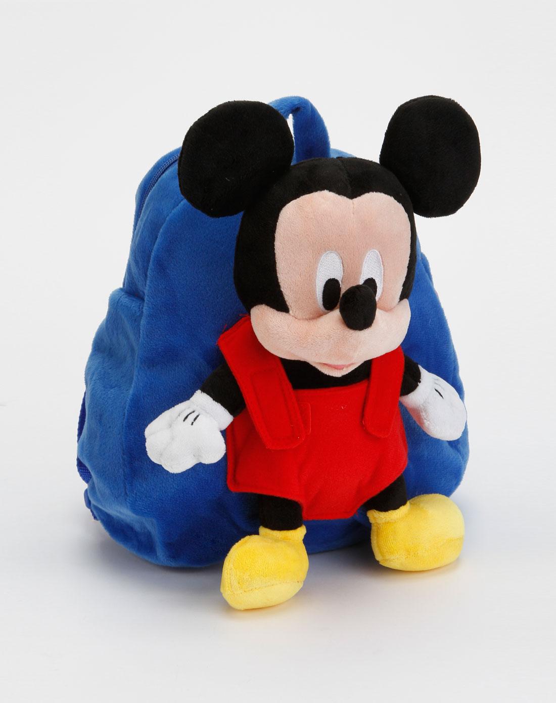 迪士尼disney 男童蓝色可爱米奇双肩包