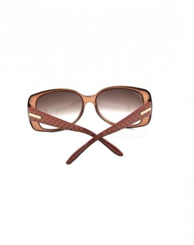 国际奢华太阳眼镜专场-gucci 女士优雅棕色品牌logo边框太阳镜