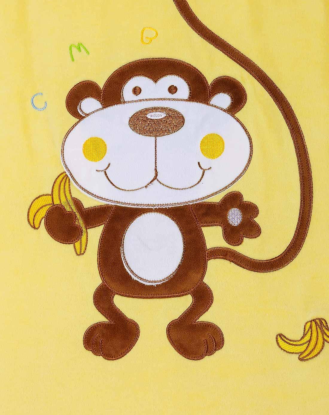 中性金黄夹棉加厚可脱袖两用长尾猴背心睡袋图片