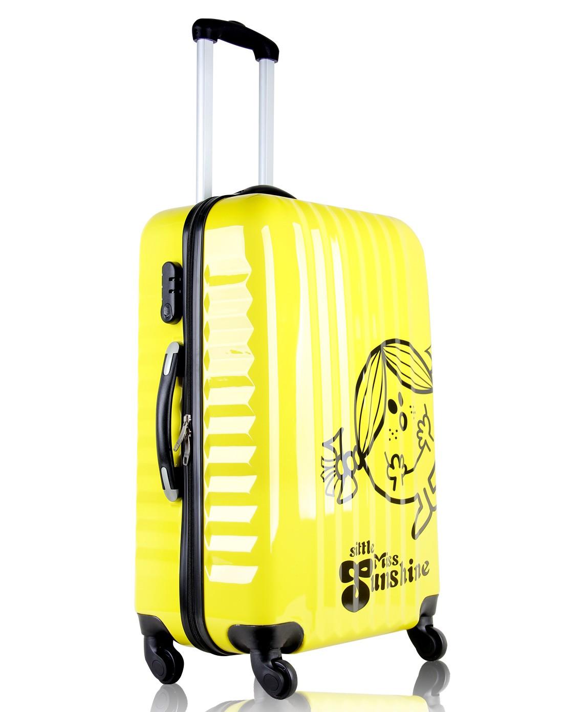 黄色可爱女孩拉杆箱24寸