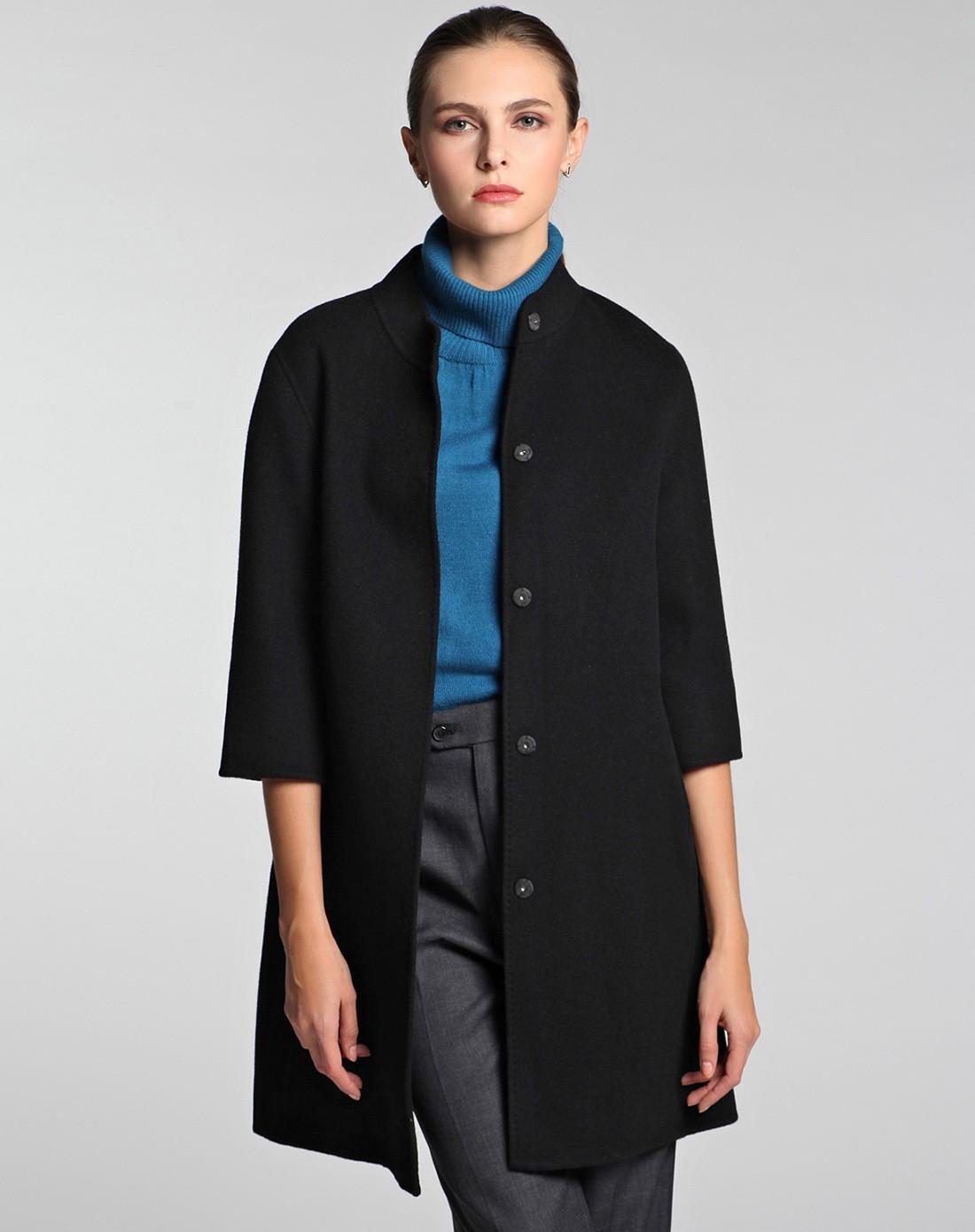 女双面呢修身大衣