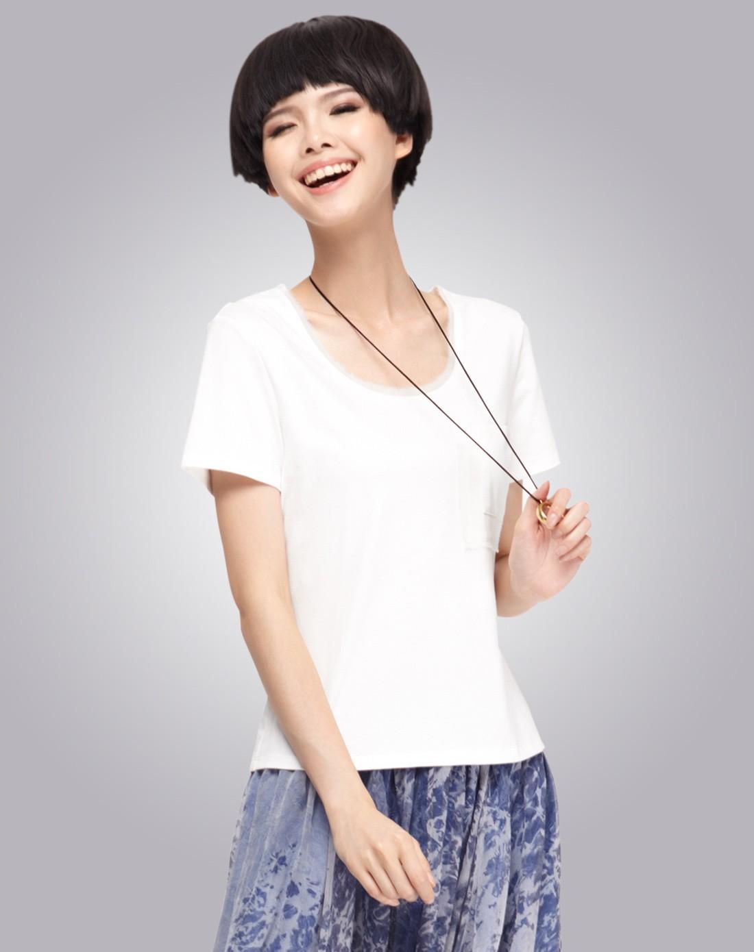 女款白色t恤