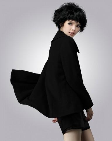 女黑礹/&�yi)��-z)�bi_女黑色开衫大衣