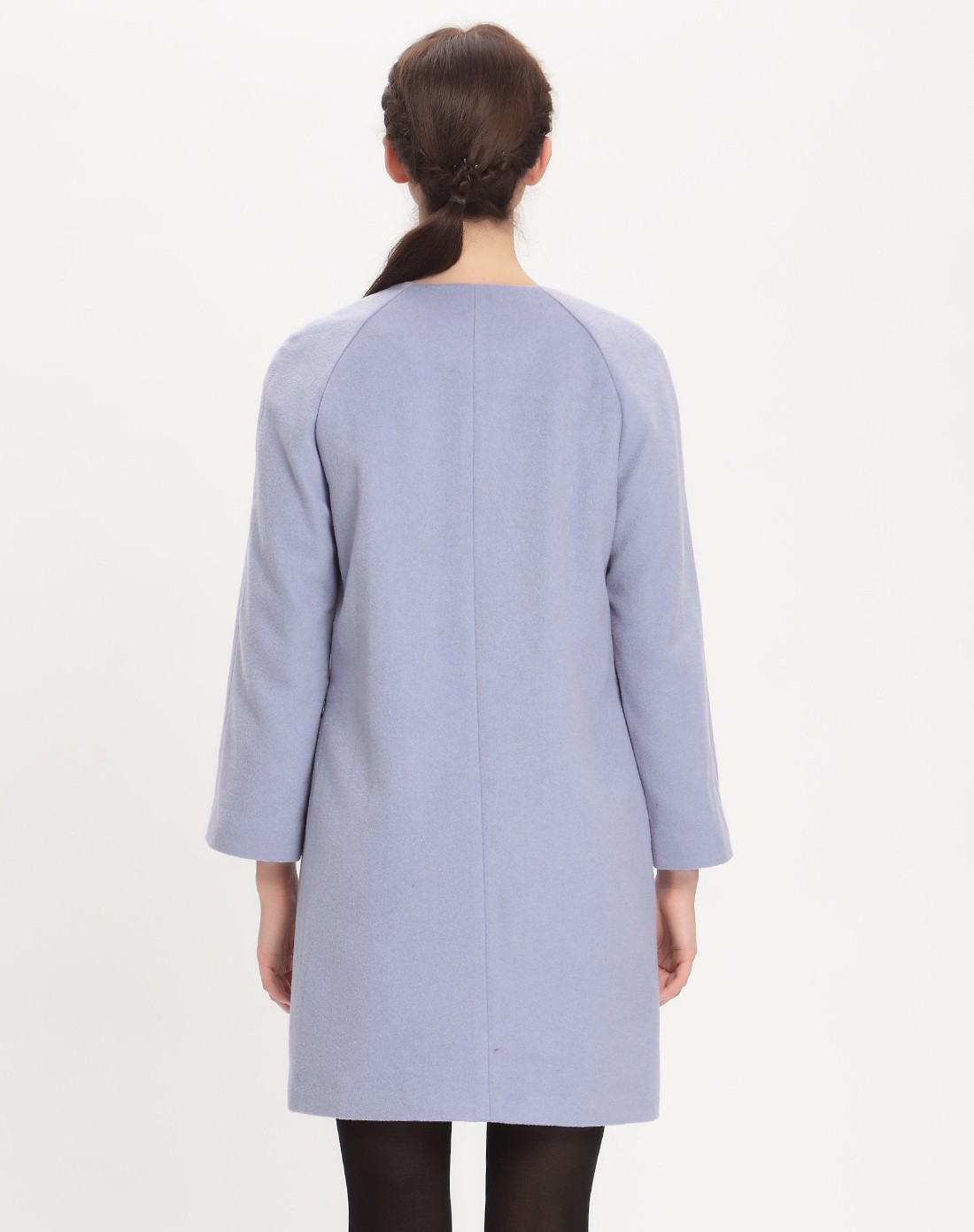 袖跺(h�(�_> 简约淡紫色落肩袖大衣
