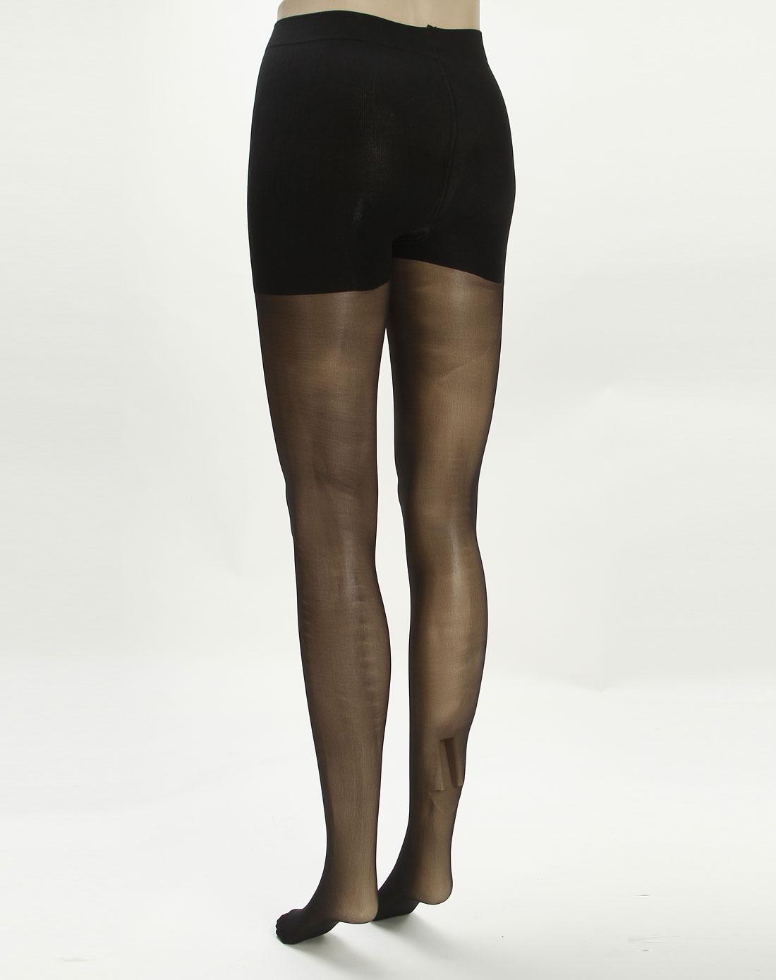 寓美女款黑色收腹提臀天鹅绒连裤袜2双装3852002