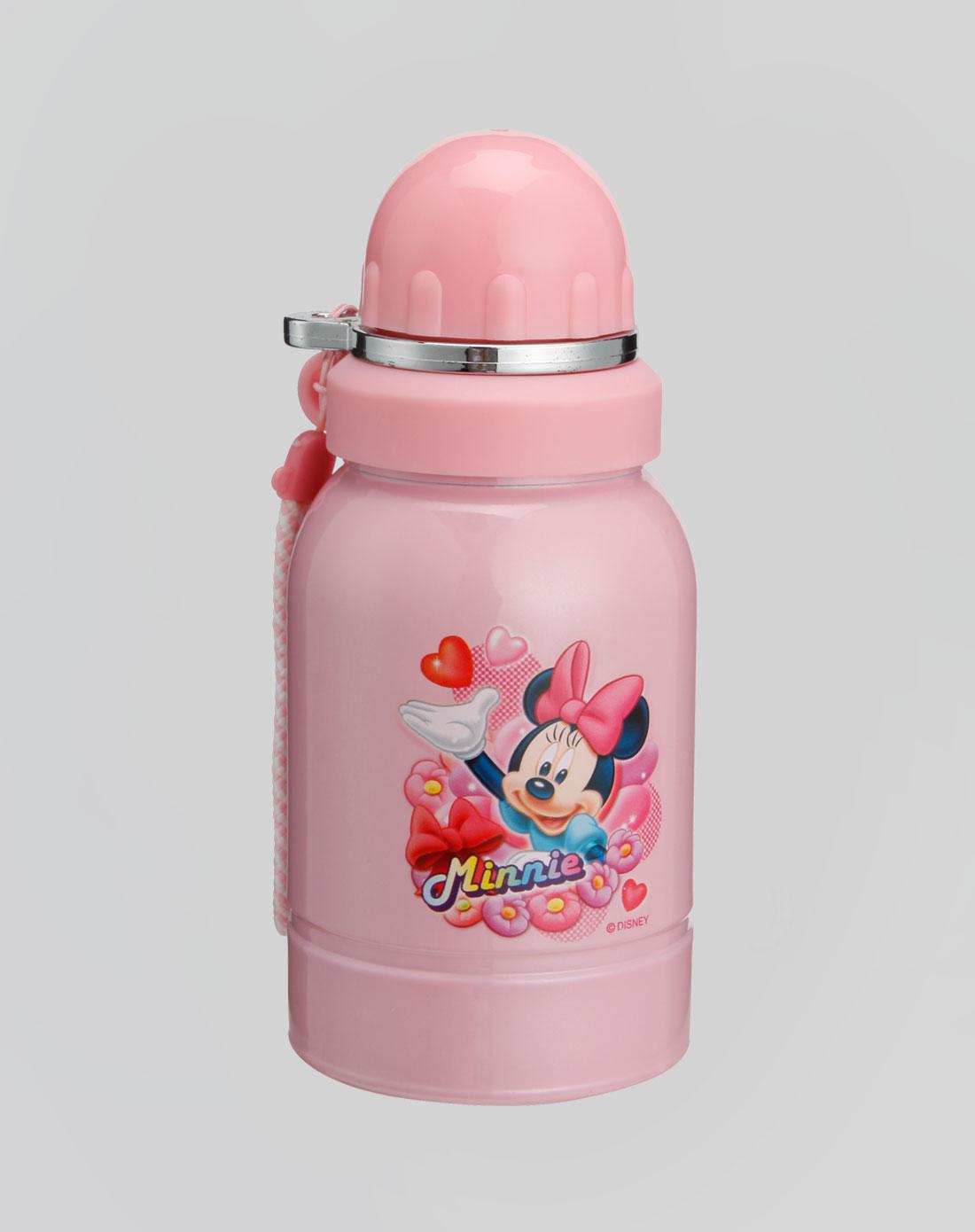 迪士尼disney 粉红色不锈钢小水壶