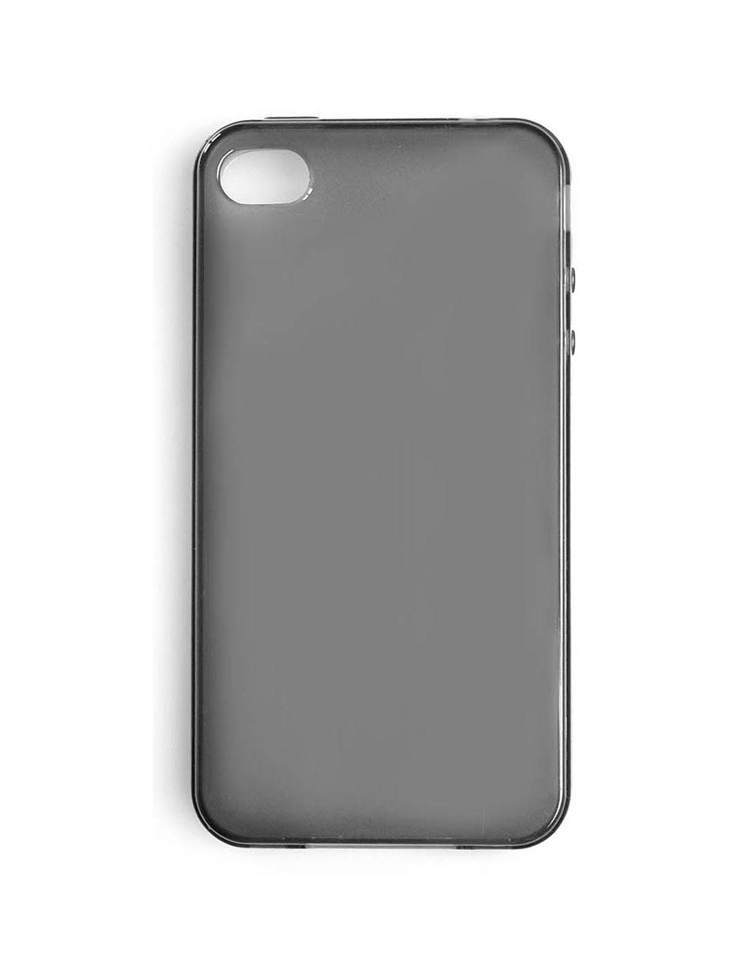 水晶黑透明手机壳