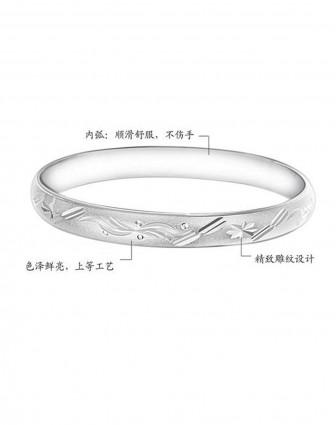 925纯银花纹手镯