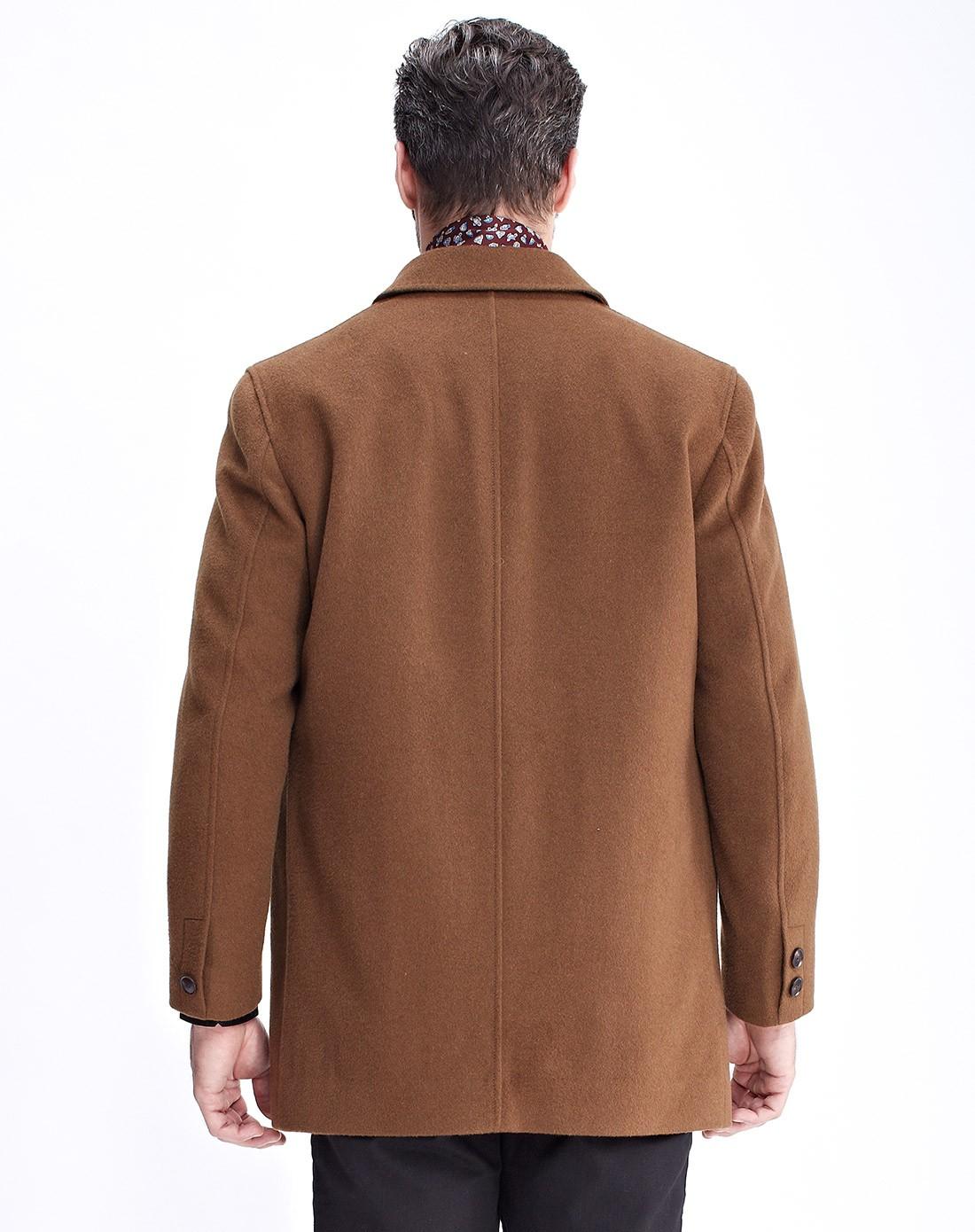 恒源祥男羊绒大衣_恒源祥羊绒男女男士鲜棕色羊毛大衣外套5254423001407