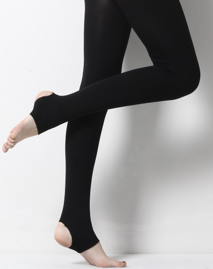 女黑礹/&�yi)��-z)�bi_女款黑色350d美体束腰踩脚裤