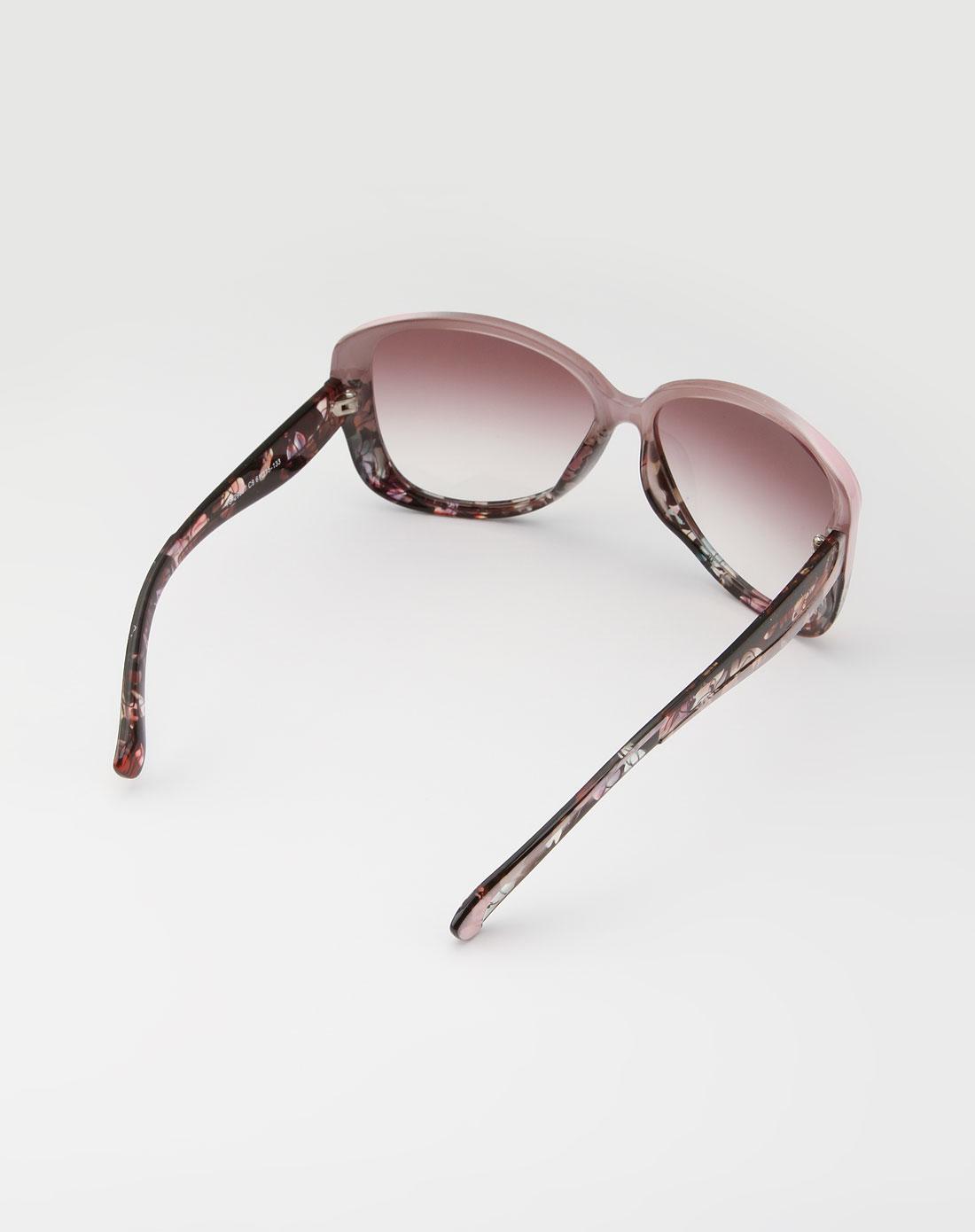 女款粉色可爱时尚印花太阳眼镜