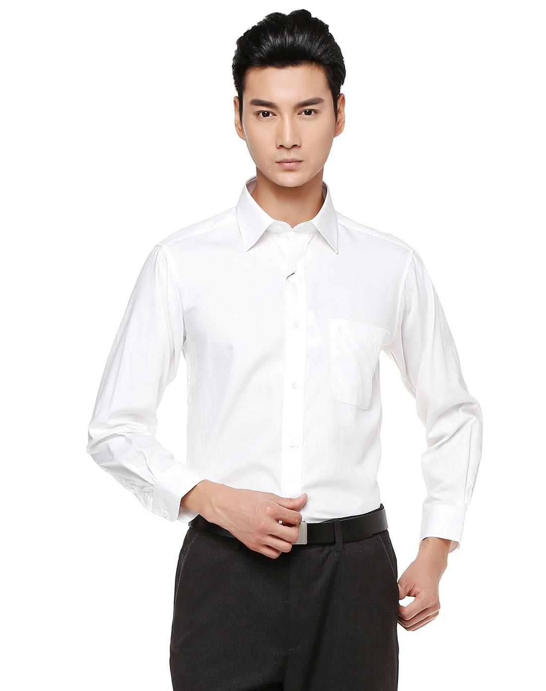 男士正装衬衣图片_男士商务衬衫正装牌子哪个好 男士白色衬衫长袖商务职业正装 ...