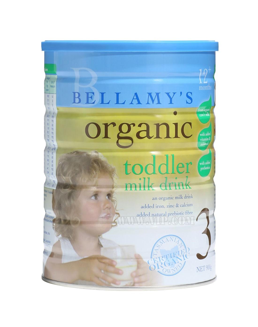 澳洲贝拉米有机婴幼儿奶粉专场-bellamy贝拉米有机婴儿配方奶粉3段(2