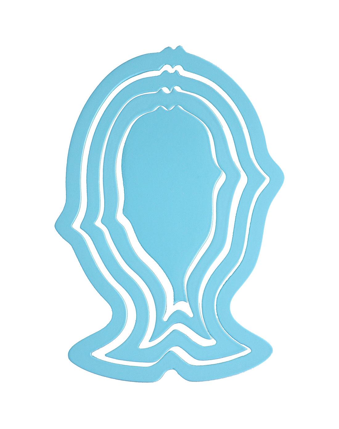 创意空间环保立体鱼形墙贴(蓝色)