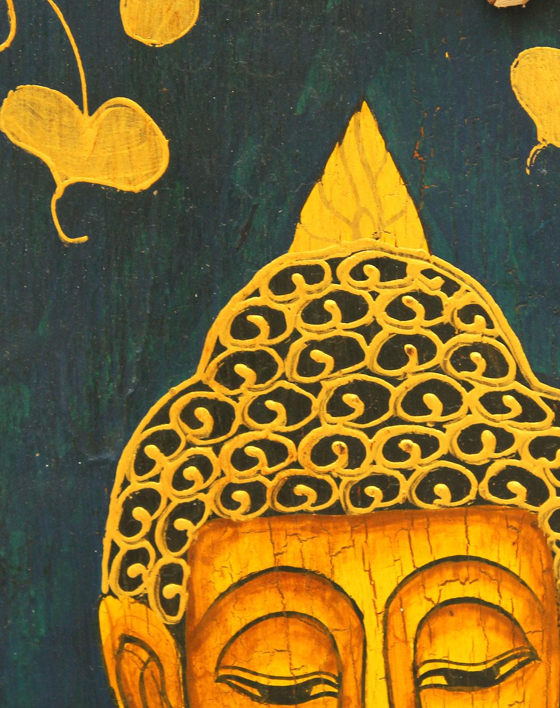 泰国天然柚木彩绘佛挂饰d