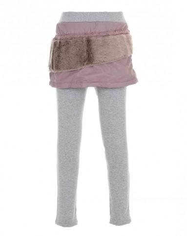 女童浅肉红打底裤