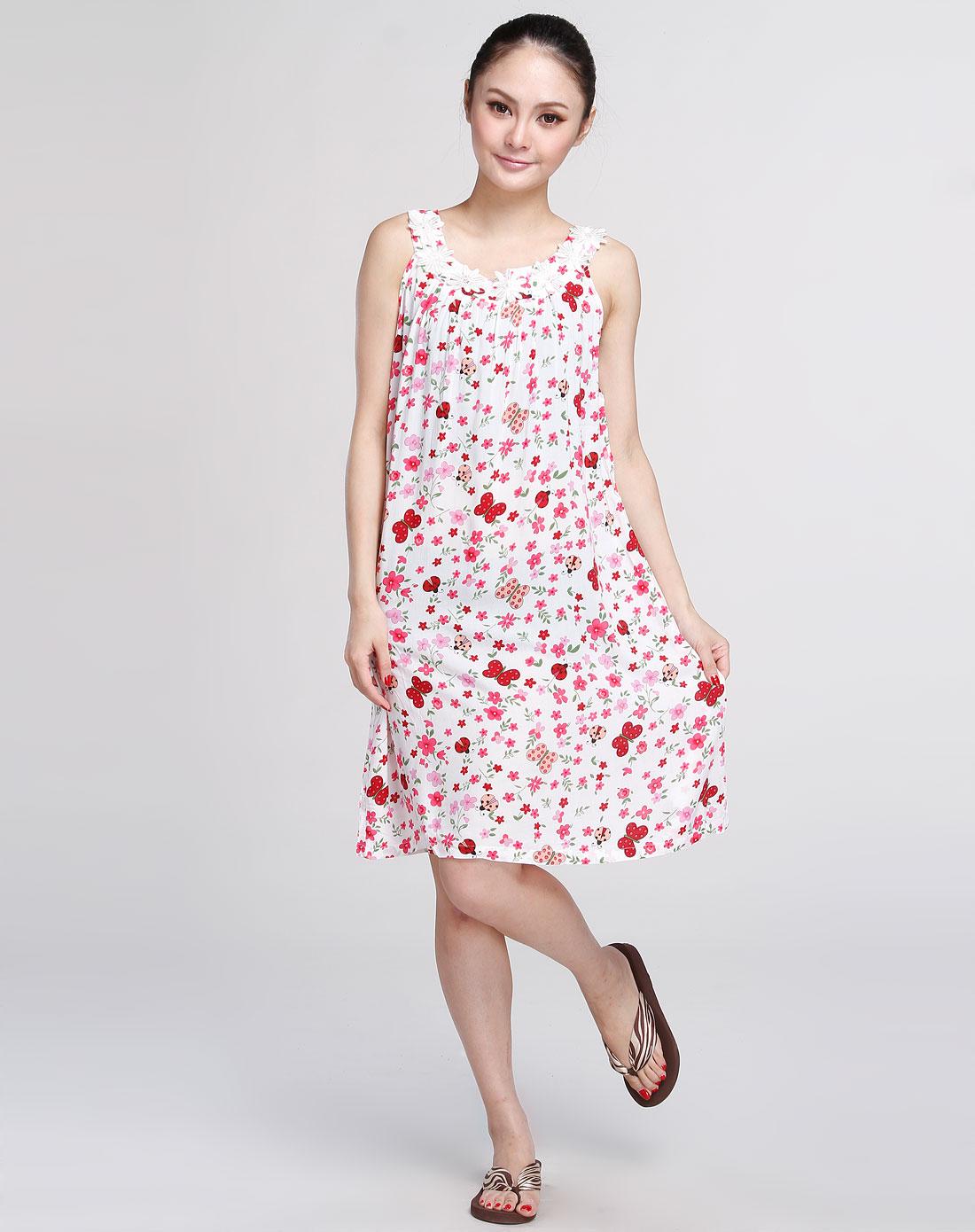 多拉美女款专场大红色简约时尚梭织背心裙3221209010