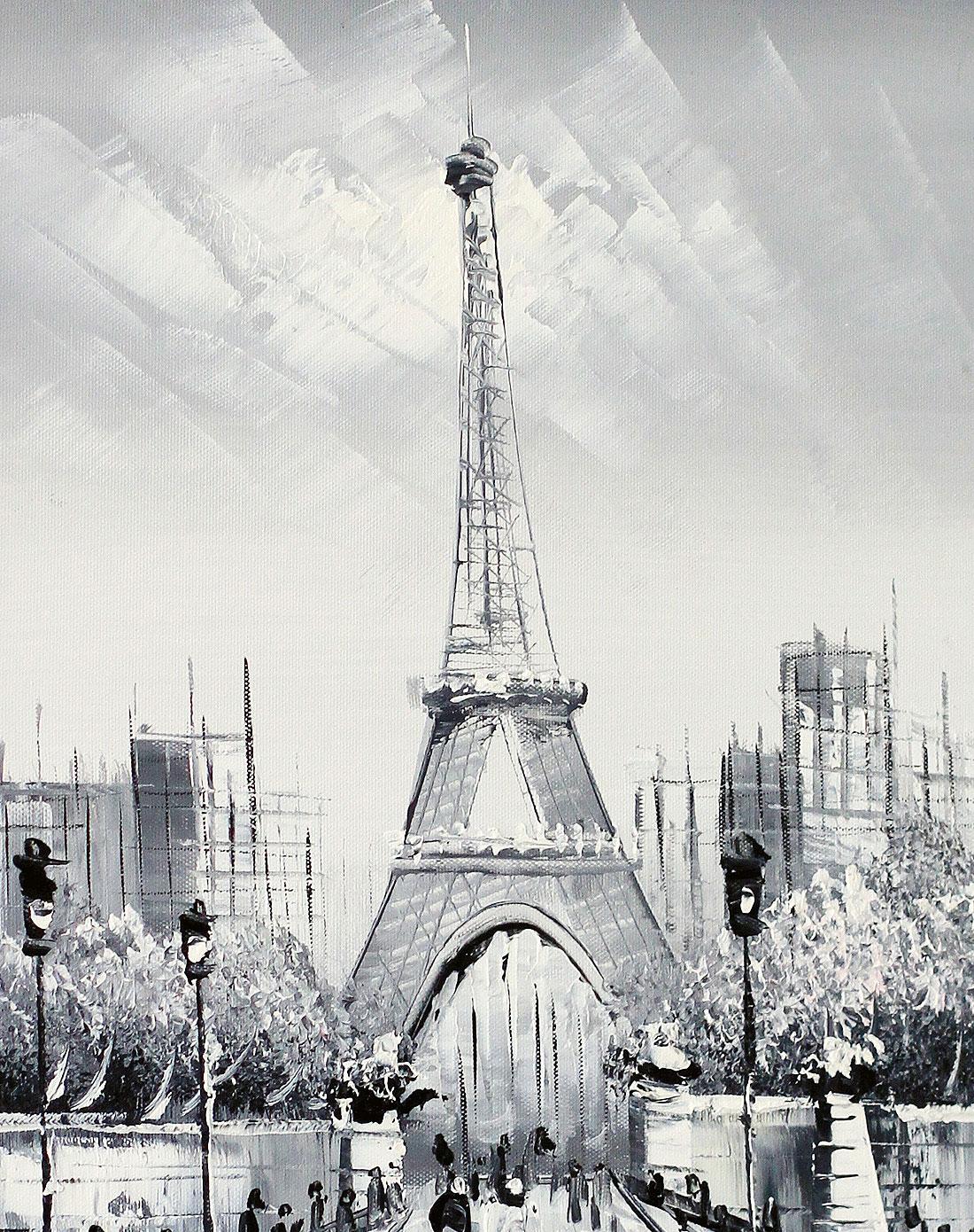 宜生活 《埃菲尔铁塔》纯手绘油画