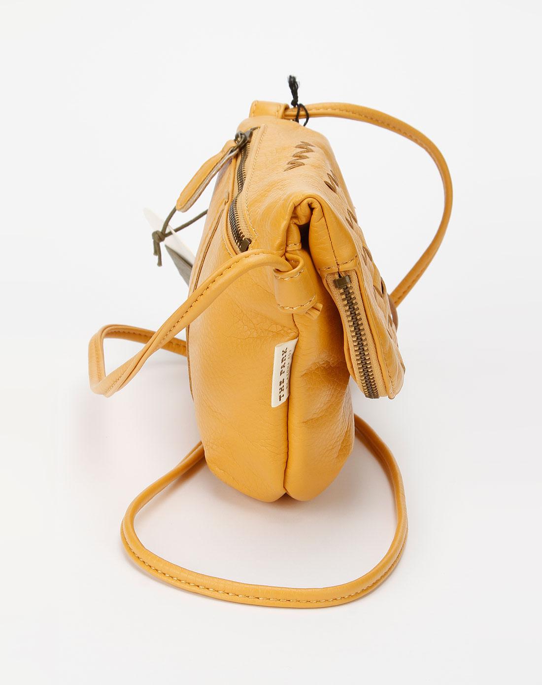 土黄色时尚可爱斜挎包
