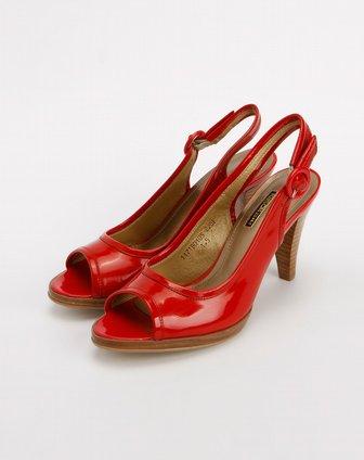 kisscat大红色鱼嘴高跟凉鞋1171b01-05-大红图片