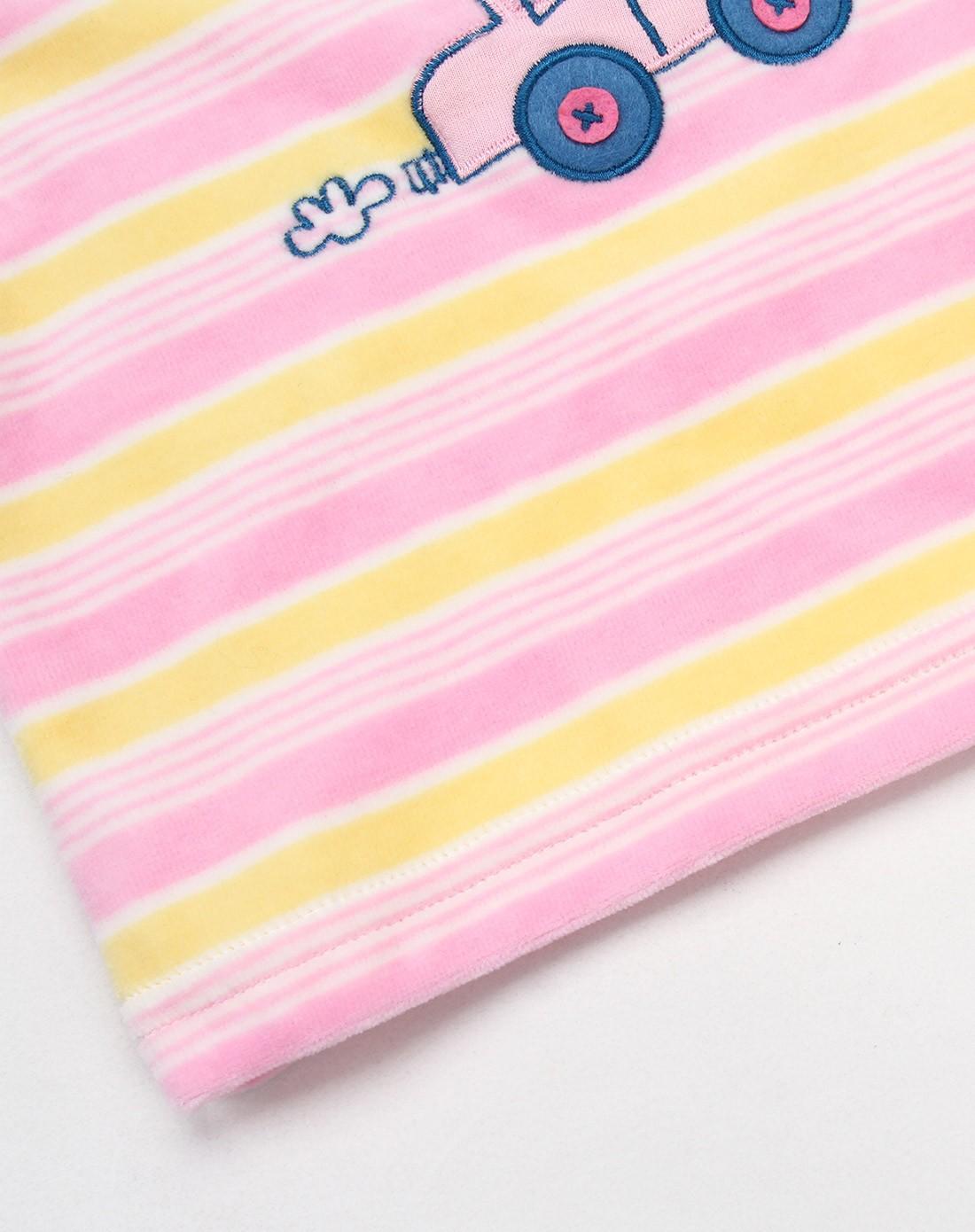 中性浅粉色卡通可爱t恤