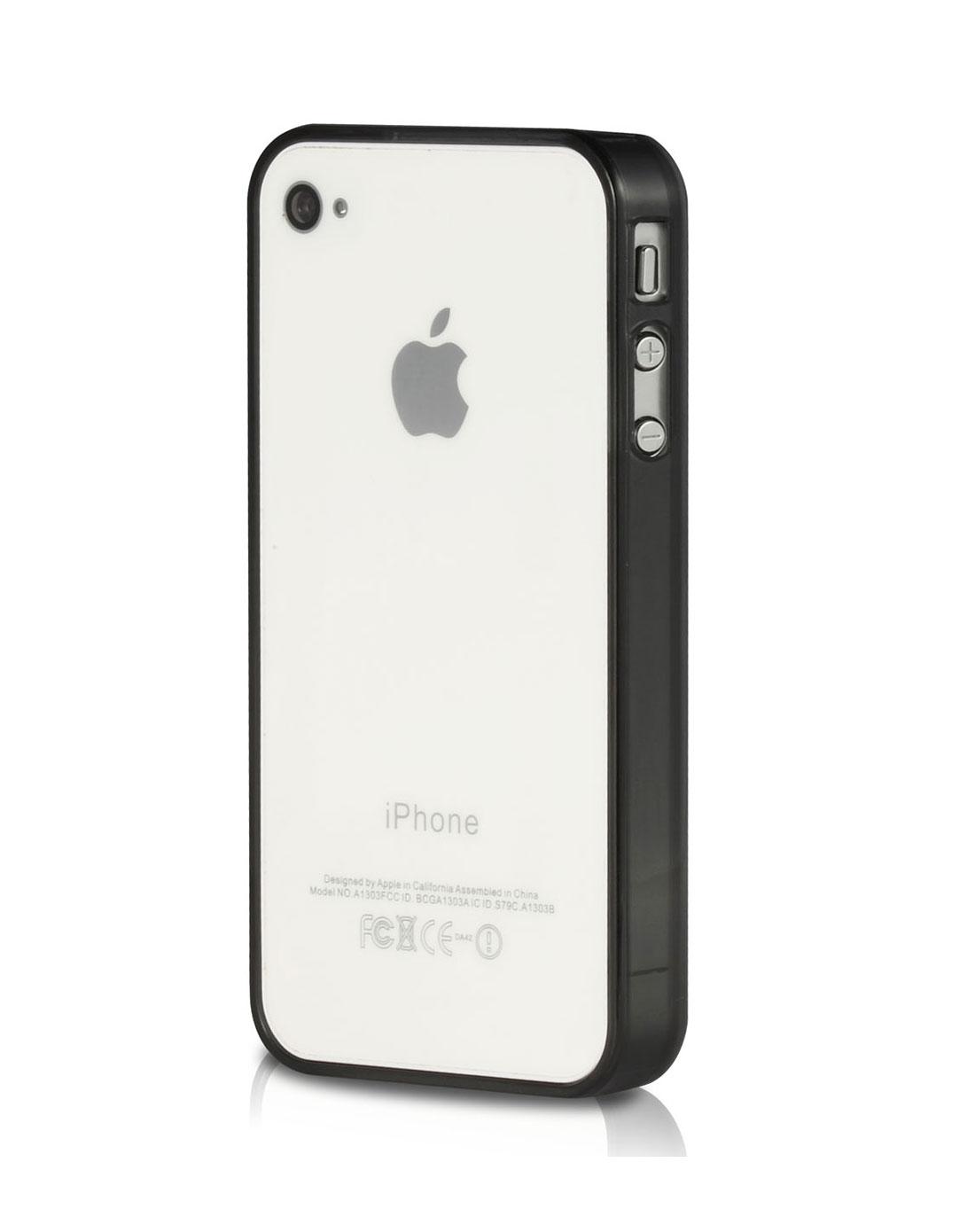 iphone4/4s黑色超薄透明边框手机壳