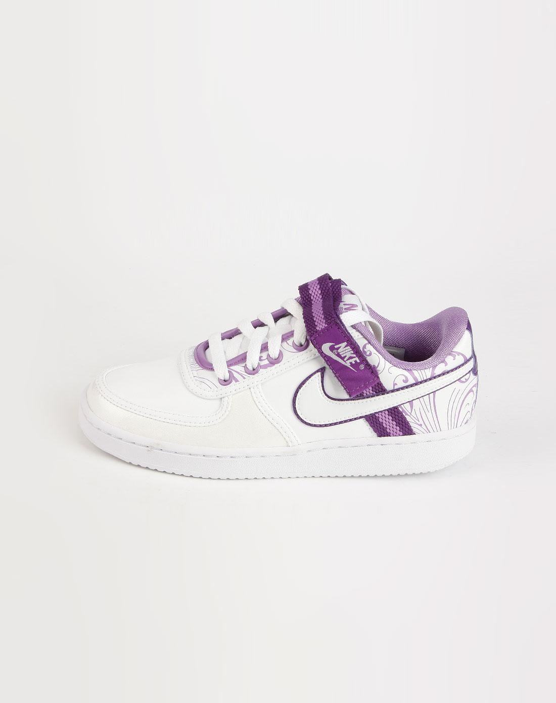 耐克nike-女鞋专场-白/紫色系带魔术贴运动鞋