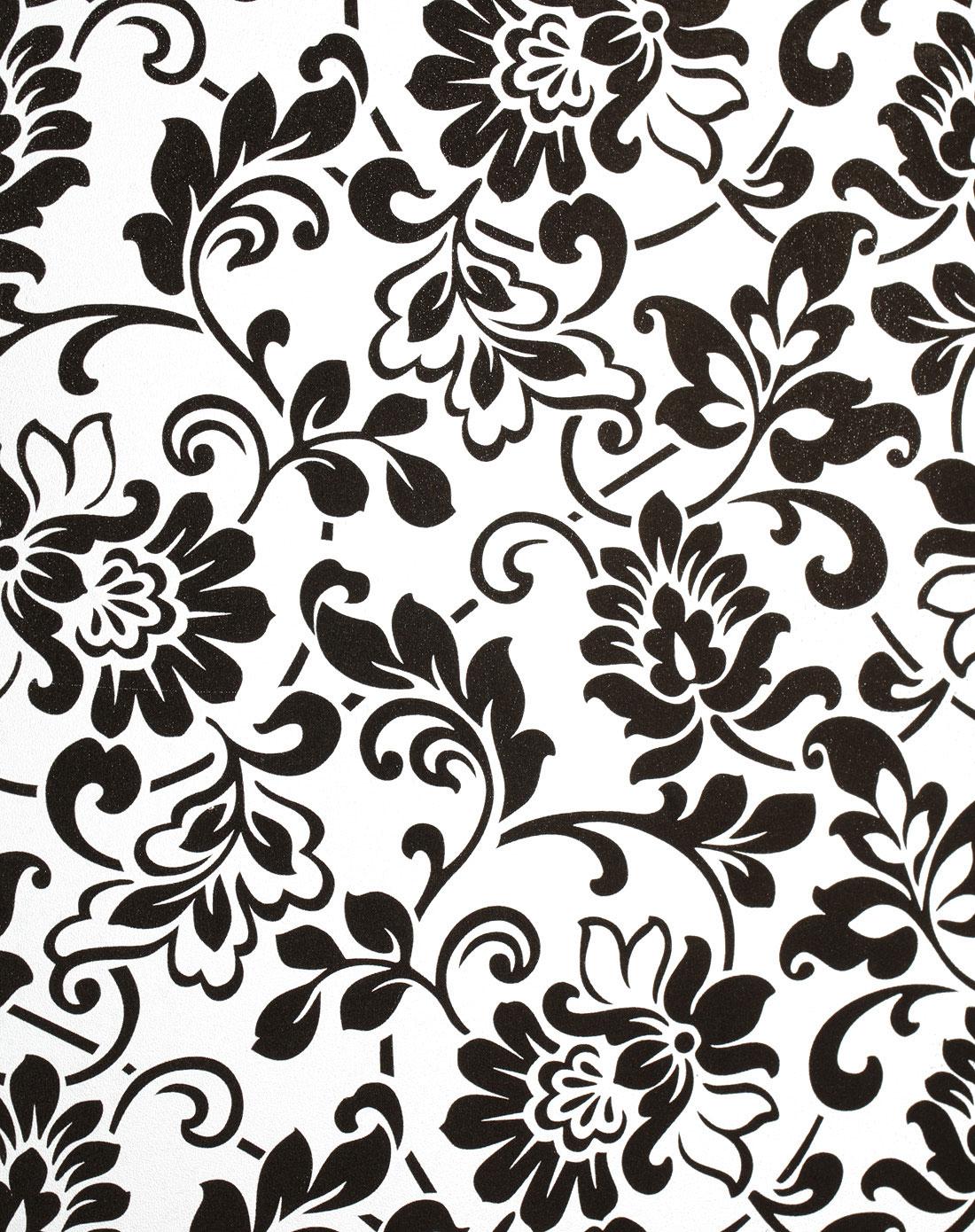 黑色花纹印花无胶静电窗花玻璃贴