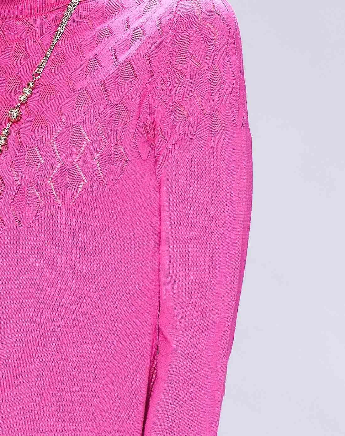女装花样玫波浪图纹设计舒适大方毛衫
