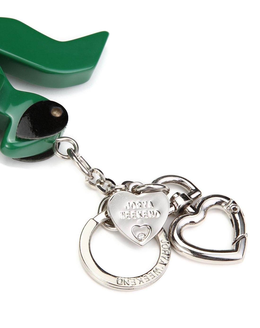 绿色可爱卡通钥匙扣