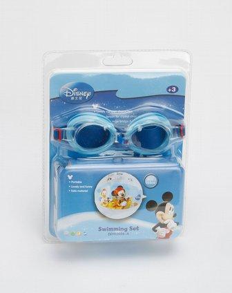 迪士尼disney 蓝色水球泳镜套装