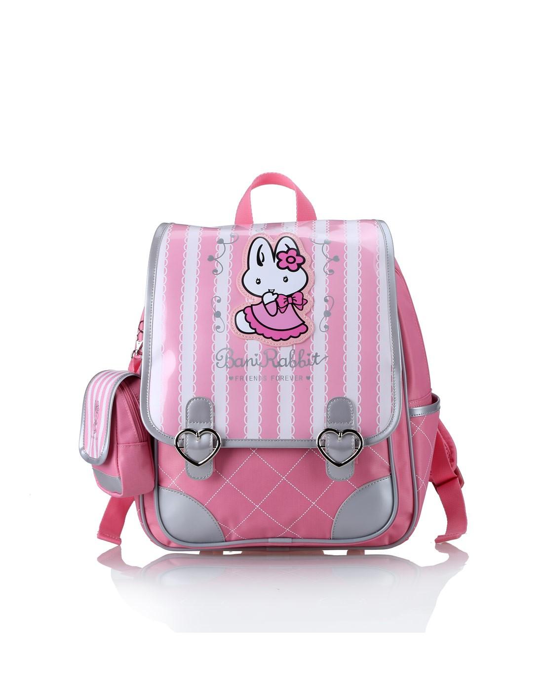 女粉红欧美版可爱双肩书包低年级背包