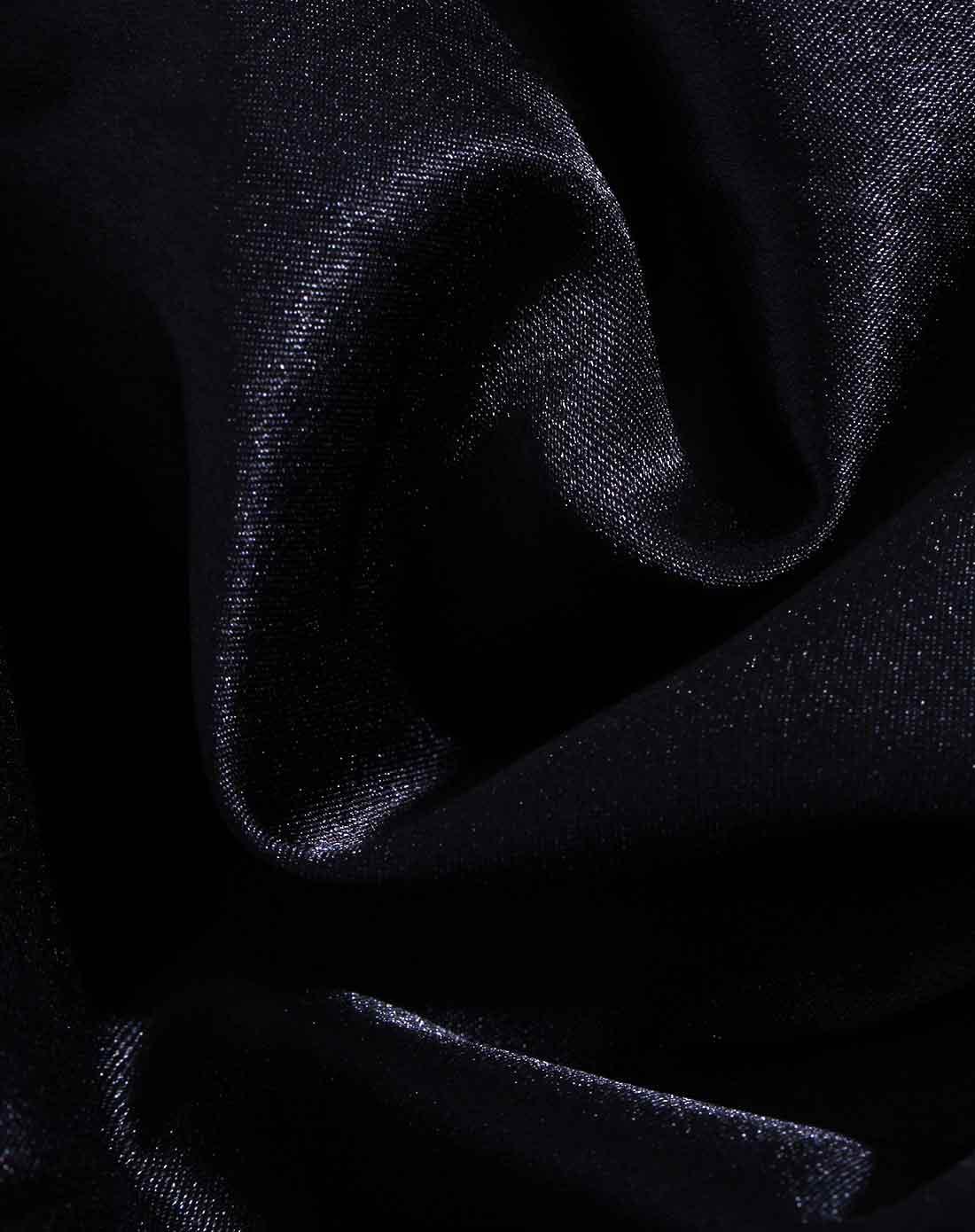 黑色黑白格子拼接网纱裙摆开衫连衣裙