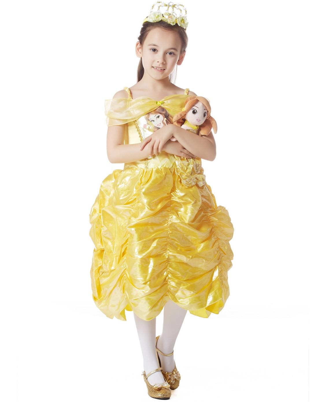 迪士尼公主裙铅笔画