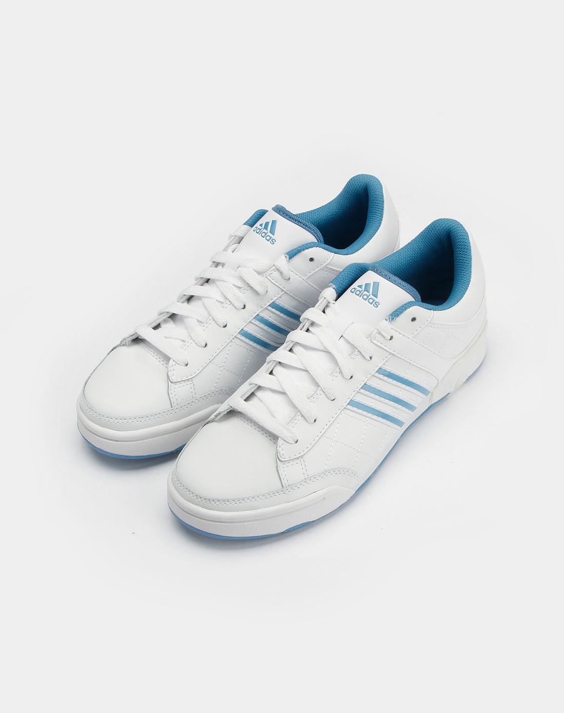 阿迪达斯adidas女款白色经典系列网球鞋g14148