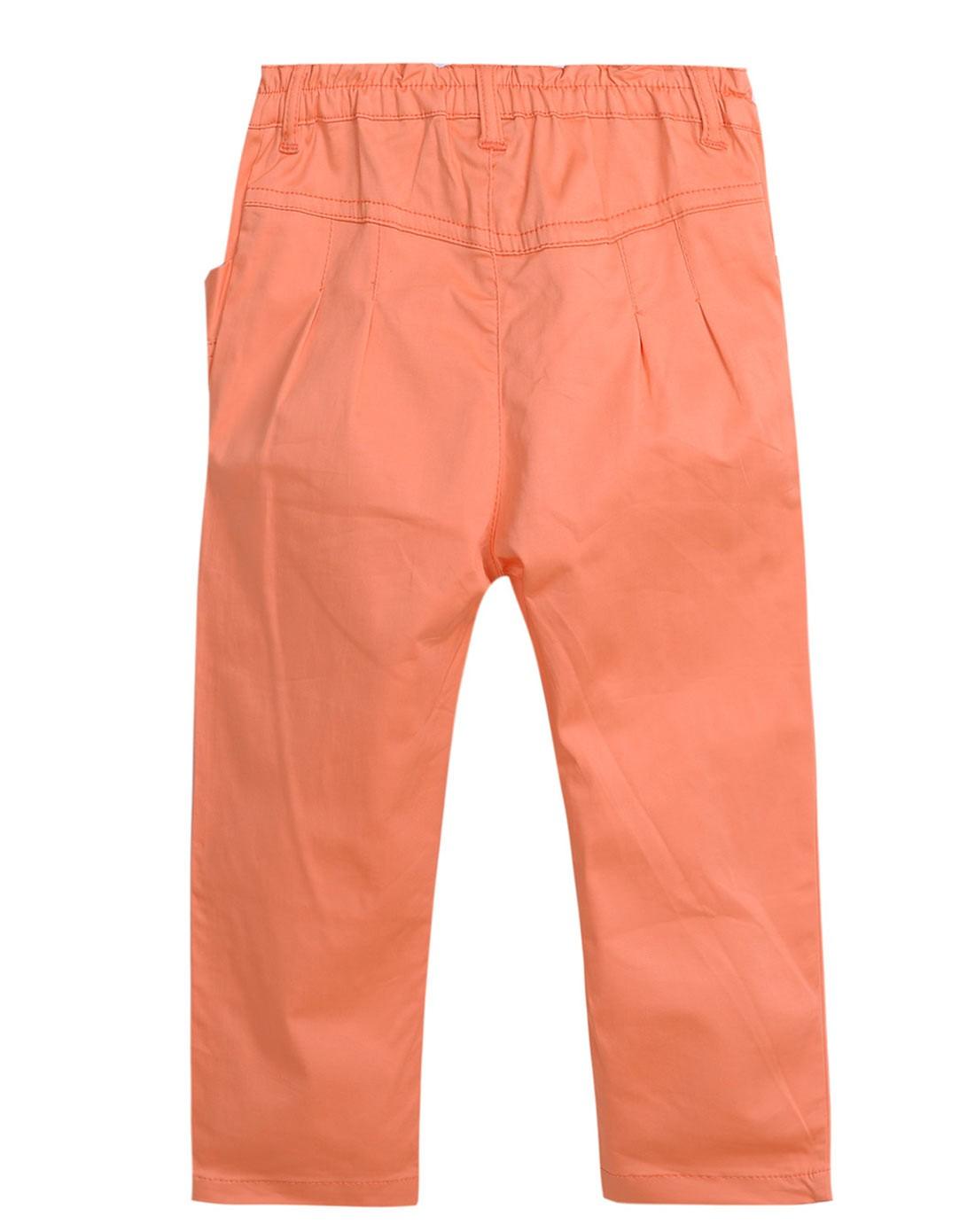 avril男女童女童橙色裤子3343911204