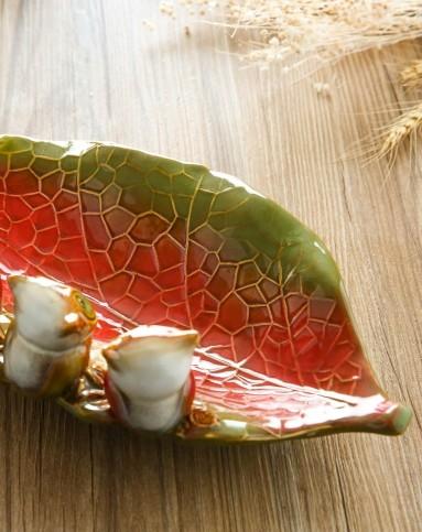 雅工坊欧式纯手工浅浮雕陶瓷果盘-猫头鹰900200100图片