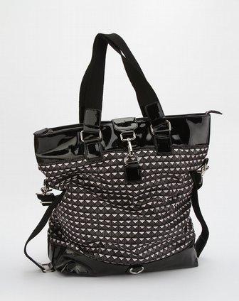 黑白色格子时尚手提包
