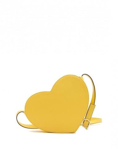 黄色浪漫可爱心形单肩斜挎包
