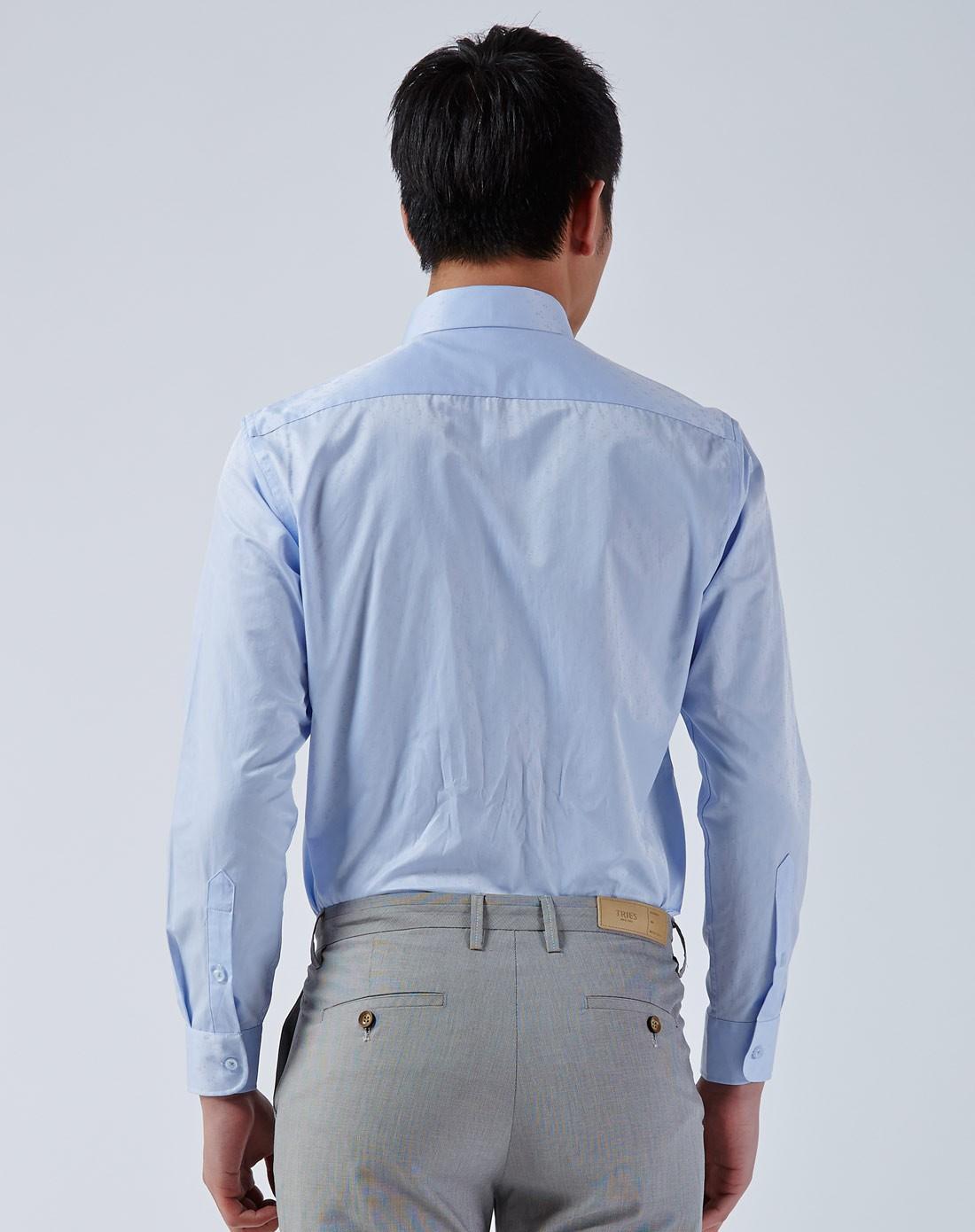 男装蓝色衬衫